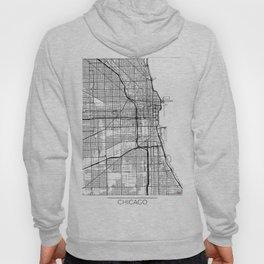 Chicago Map White Hoody