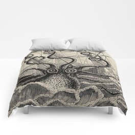 """The octopus; or, The """"Devil-fish"""" - Henry Lee - 1875 Giant Octopus Sinking Ship Comforters"""