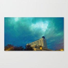 Algún lugar (versión azul) Canvas Print