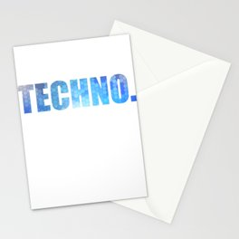 "Cute and catching tee design. Makes a nice and unique gift this holiday! Go get this ""Techno"" tee!  Stationery Cards"