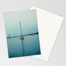 Sailboats In Grand Marais Stationery Cards