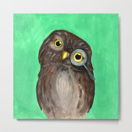 Curios Owl from Animal Society Metal Print
