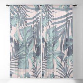 Tropical Jungle Leaves Pattern #8 #tropical #decor #art #society6 Sheer Curtain