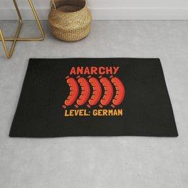 Germany Anarchy Level German Funshirt Rug