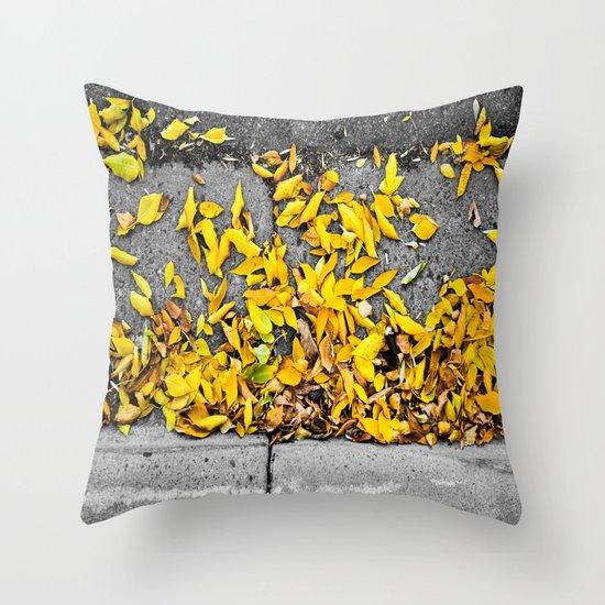 Guttered Fall Throw Pillow