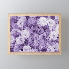 bouquet ver.purple Framed Mini Art Print