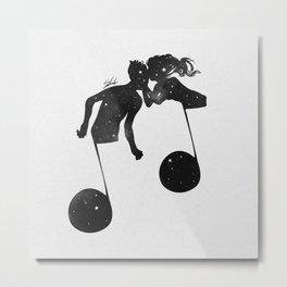 When love meets music. Metal Print