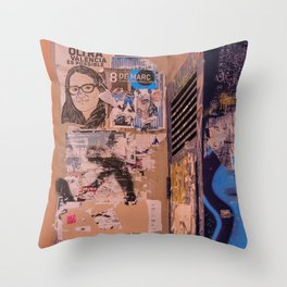 Ads and Tags Throw Pillow