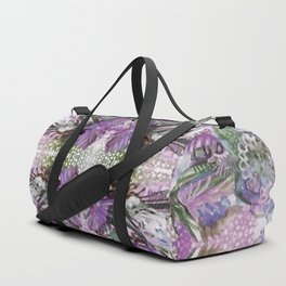 Psychedelic Positive Notes Lavender Zoom Duffle Bag