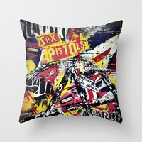 punk Throw Pillows featuring Punk by Frank van Meurs