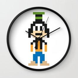 Goofy Pixel Character Wall Clock