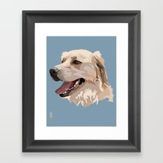 Golden Retriever Dog Framed Art Print