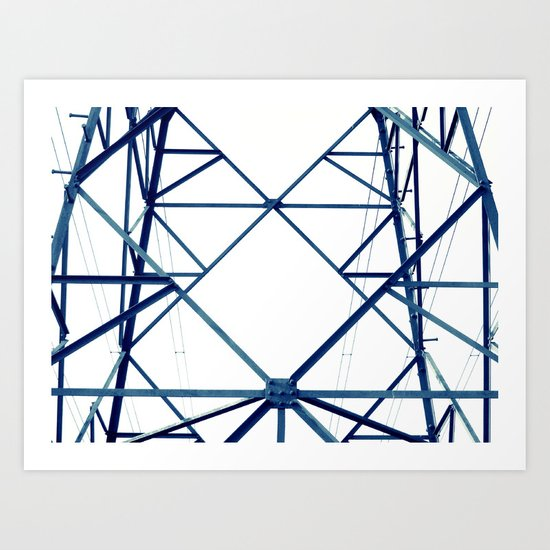 blue iron III Art Print