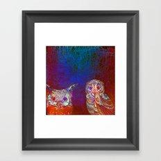 Owls at night Framed Art Print