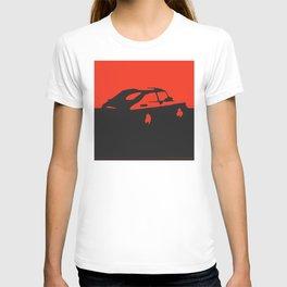 Saab 900 classic, Red on Black T-shirt
