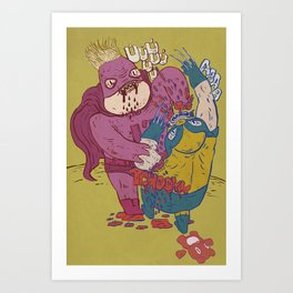 same old jokes Art Print