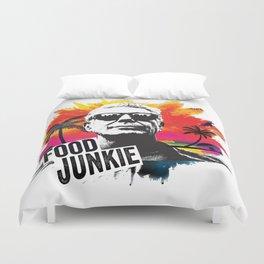 Food Junkie Duvet Cover