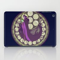 maleficent iPad Cases featuring maleficent by NicoleGrahamART