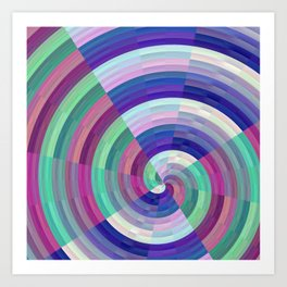 spinning colors Art Print