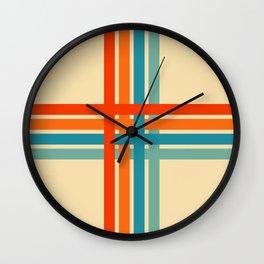 Retro Cross 02 Wall Clock