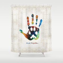 Rainbow Bridge Art - Never Forgotten - By Sharon Cummings Shower Curtain