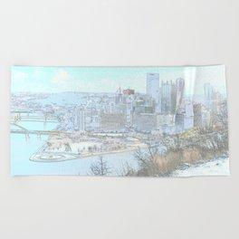 Downtown Pittsburgh 1 Beach Towel