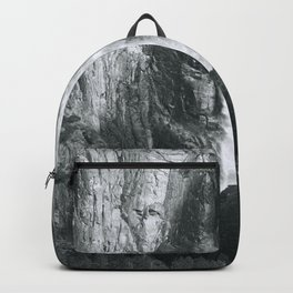 Bridalveil Falls. Yosemite California in Black and White Backpack