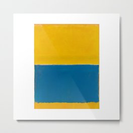 Untitled (Yellow and Blue) by Mark Rothko Metal Print