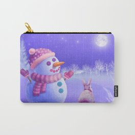 Winter Night Moon Watching Carry-All Pouch