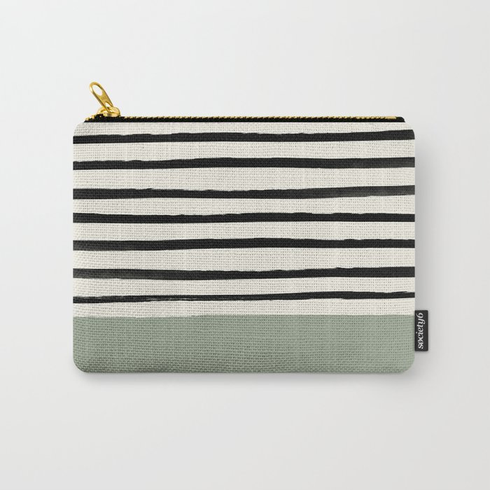 Sage Green x Stripes Carry-All Pouch