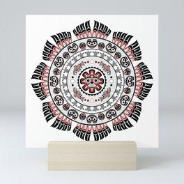Pacific Northwest Native American Art Mandala Mini Art Print