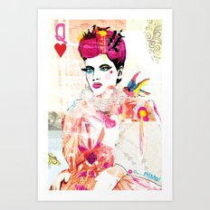 La Queen De Dimanche / The Queen of Sunday Art Print