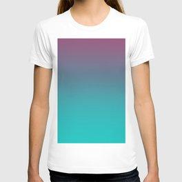 OCEANIC LOVE - Minimal Plain Soft Mood Color Blend Prints T-shirt