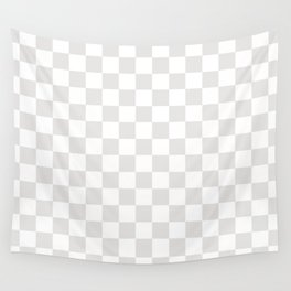Checker (Platinum/White) Wall Tapestry