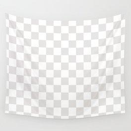 Checker (Platinum/White) Wall Tapestry