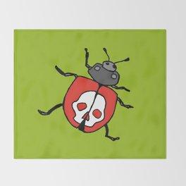 Death's Head Ladybird Throw Blanket