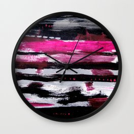 Pink & Black Wall Clock