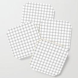 Grid Pattern Stripes Lines Black and White Minimalist Geometric Stripe Line Coaster