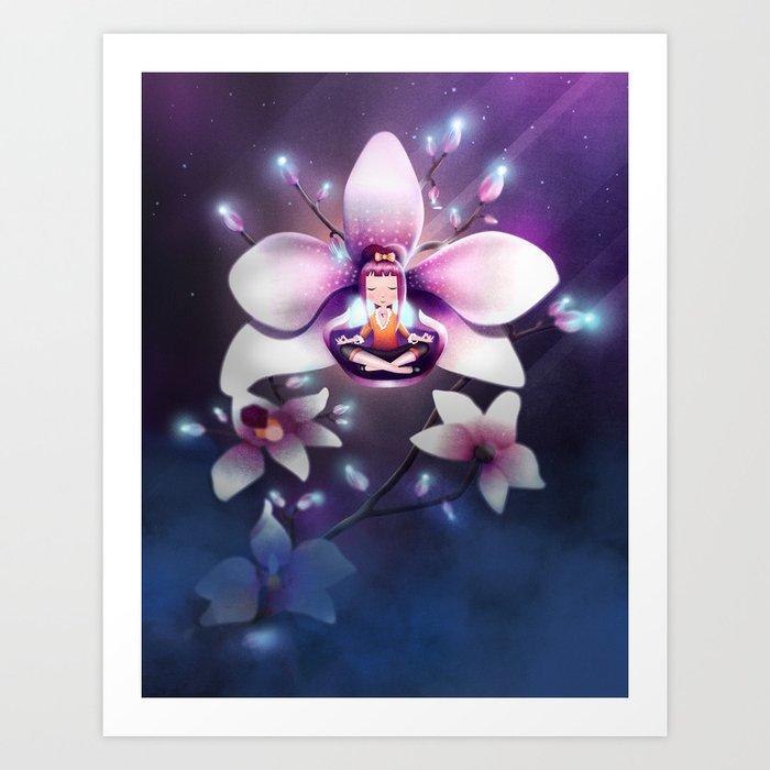Orchid Meditation Art Print