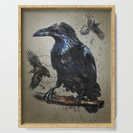 Raven background Serving Tray