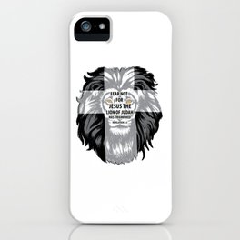 Lion Cross Fear Not Unisex Shirt Jesus Triumphed Bible Quote iPhone Case