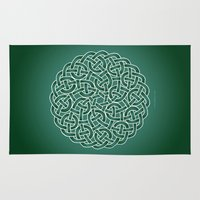 celtic Area & Throw Rugs featuring Celtic knot by tuditees