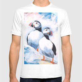 Puffins - I watch over you, little brother - by LiliFlore T-shirt