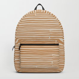 hand drawn light lines –rust Backpack