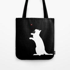 Cat and Laser Cute Minimalistic Animal Portrait Tote Bag