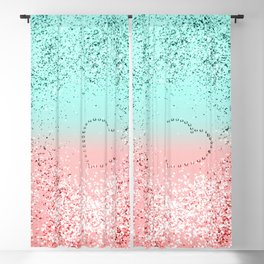 Summer Vibes Glitter Heart #1 #coral #mint #shiny #decor #art #society6 Blackout Curtain