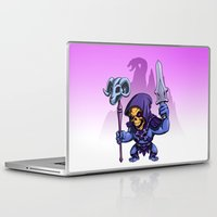 skeletor Laptop & iPad Skins featuring Little Skeletor by Rico Marcano