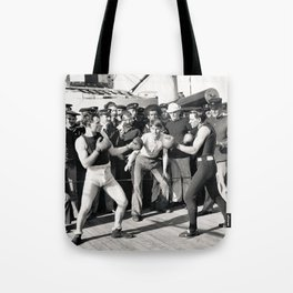Boxing on a Naval Ship, 1899 Tote Bag