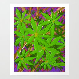Rain forest foliage Art Print