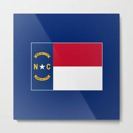 North Carolina State Flag Patriotic Design Metal Print